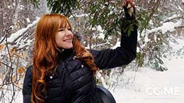 Camille Crimson in Redhead In The Snow