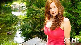Camille Crimson in Redhead In The Forest