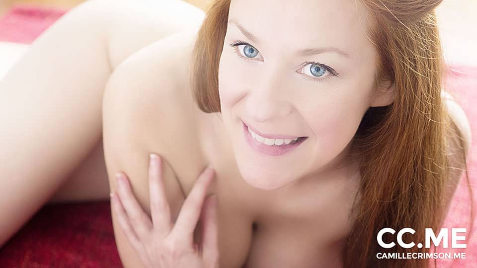 Naked Redhead and Beautiful Smile