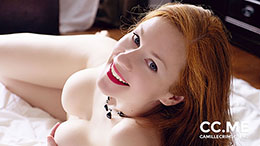 Camille Crimson in Redhead & Red Lips Smile