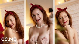 Camille Crimson in Naked Retro Pinup Look